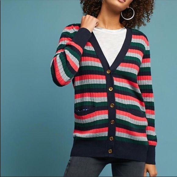 Anthropologie Sweaters - SOLD Anthropologie | Moth Jamison Striped Cardigan